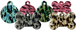 Wholesale Bulk Camo Pet ID Tags