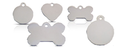 Silver Stainless Steel Dog ID Tag
