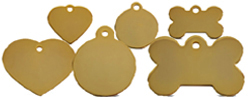Wholesale Brass Dog ID Tag Range