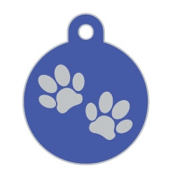 Wholesale Large Disc Two Paws Brown Dog ID Tags x10 Pack