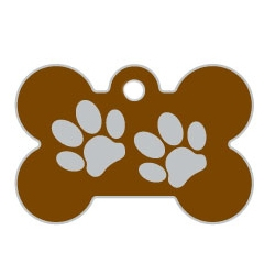 Brown Large Bone Two Paws Supreme Range Dog ID Tag