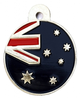 Australian Aus Flag Large Disc Dog ID Tag