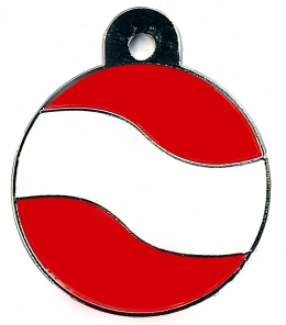 Austria Flag Large Disc Dog ID Tag