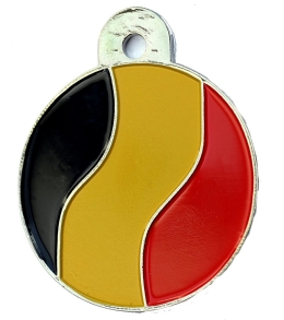 Belgium Flag Large Disc Dog ID Tag