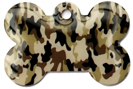 Wholesale Large Camo Army Desert Bone Dog ID Tag