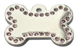 Wholesale Large Pink Bone Dog ID Tags x10 Pack