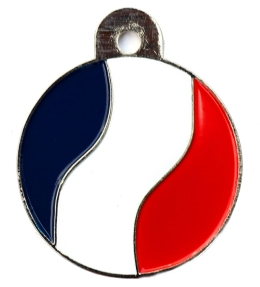 France Flag Large Disc Dog ID Tag