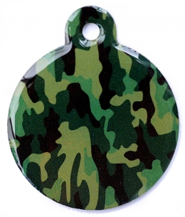 Wholesale Large Camo Army Grey Disc Dog ID Tag
