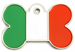 Wholesale Flag Tag Ireland Large Bone Dog ID Tags x10 Pack