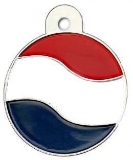 Wholesale Flag Tag Hungary Large Disc Dog ID Tags x10 Pack