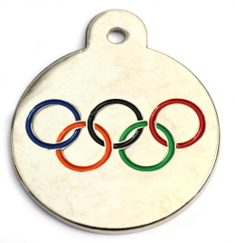 Olympic Medal Disc Dog ID Tag