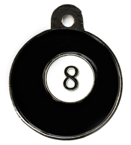 Pool 8 Ball Disc Dog ID Tag