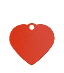 Small Red Heart Dog ID Tag Classic