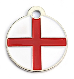 Wholesale Flag Tag England Small Disc Dog ID Tags x10 Pack