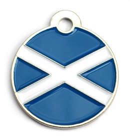 Wholesale Flag Tag Scotland Small Disc Dog ID Tags x10 Pack