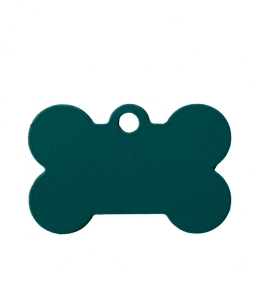 Small Turquoise Blue Bone Dog ID Tag Classic