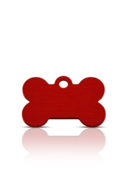 Wholesale Small Red Diamond Bone Dog ID Tags x10 Pack