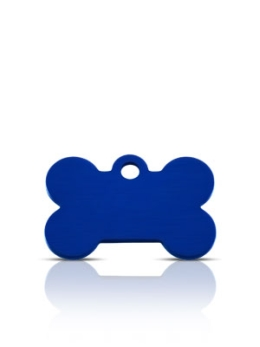 Wholesale Small Blue Diamond Bone Dog ID Tags x10 Pack