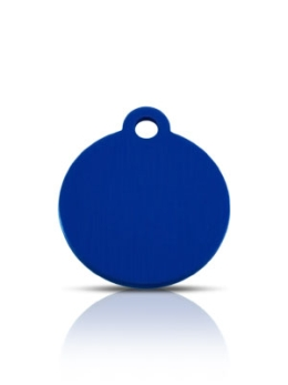Wholesale Small Blue Disc Dog ID Tags x10 Pack