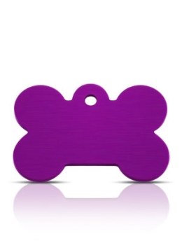 Wholesale Large Purple Bone Dog ID Tags x10 Pack