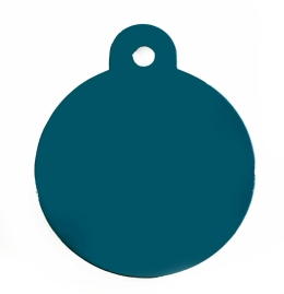 Large Turquoise Blue Disc Dog ID Tag Classic