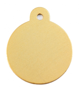Large Gold Disc Dog ID Tag Classic