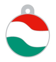 Hungary Flag Large Disc Dog ID Tag