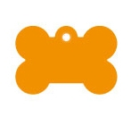 Wholesale Large Orange Bone Dog ID Tags x10 Pack