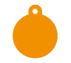 Large Orange Disc Dog ID Tag Classic