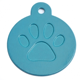 Round Blue Merit Range Dog ID Tags