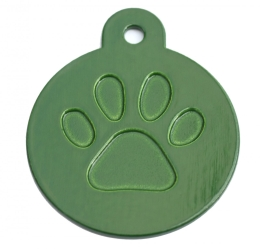 Round Green Merit Range Dog ID Tags