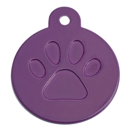 Wholesale Red Paw Tag Large Disc Dog ID Tags x10 Pack