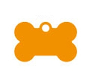 Wholesale Small Orange Bone Dog ID Tags x10 Pack