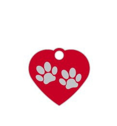 Wholesale Supreme Small Heart Two Paws Red x10 Pack