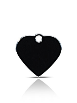 Small Black Heart Pet ID Name ID Tags Hi Line