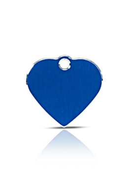 Small Blue Heart Pet ID Name ID Tags Hi Line