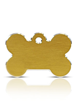 Large Gold Bone Pet ID Tags Hi Line