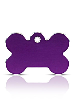 Large Purple Bone Pet ID Tags Hi Line
