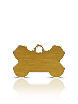 Small Gold Bone Pet Name ID Tags Hi Line