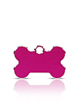 Small Pink Bone Pet Name ID Tags Hi Line