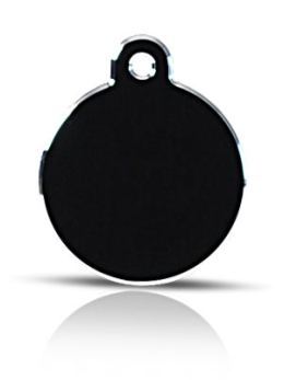 Large Black Disc Pet ID Tags Hi Line