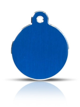 Large Blue Disc Pet ID Tags Hi Line