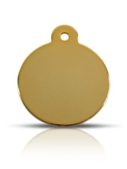 Large Gold Disc Prestige Pet ID Tags For Dogs