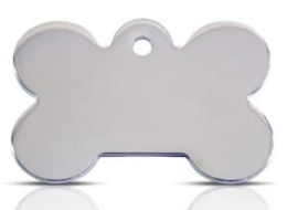 Stainless Steel Large Bone Dog ID Tag