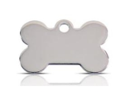 Wholesale Small Stainless Steel Bone Dog ID Tags x10 Pack