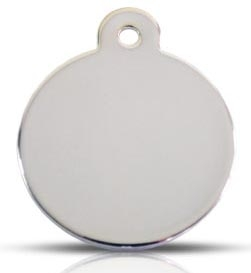 Silver Stainless Steel Large Disc Pet ID Tags