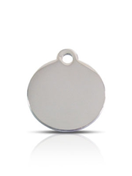 Small Silver Disc Prestige Pet ID Tags For Dogs