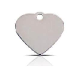 Wholesale Large Heart Two Paws Black Dog ID Tags x10 Pack