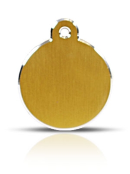 Large Gold Disc Pet ID Tags Hi Line