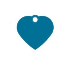 Small Blue Heart Dog ID Tag Classic